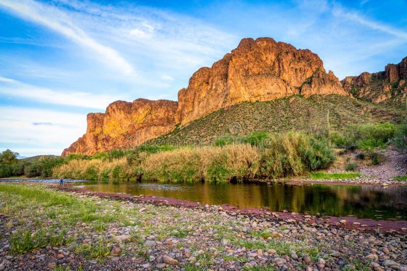 Mais baixo Salt River, Mesa imagens de stock