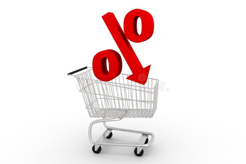 Mais baixos preços das compras ilustração royalty free