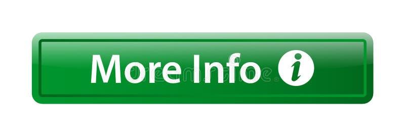 Mais botão da Web do ícone da informação ilustração stock