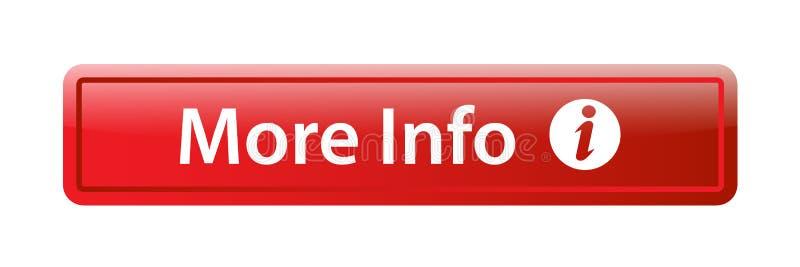 Mais botão da Web do ícone da informação ilustração royalty free