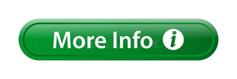 Mais botão da Web do ícone da informação ilustração do vetor