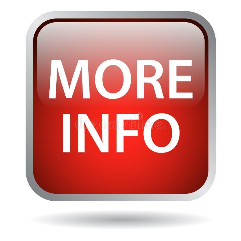 Mais botão da Web da informação ilustração stock