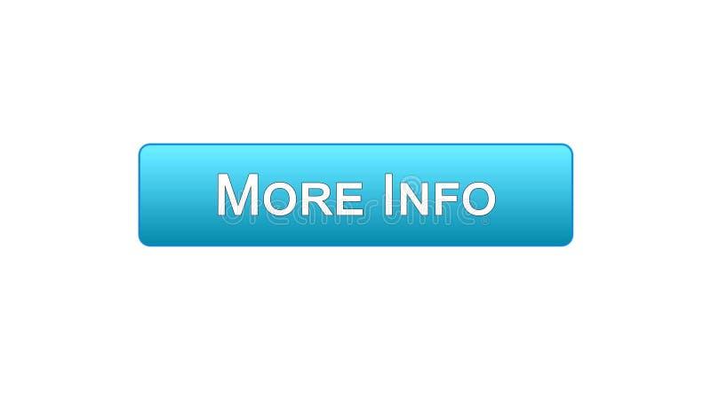 Mais cor azul do botão da relação da Web da informação, projeto da página de Internet, aplicação ilustração stock