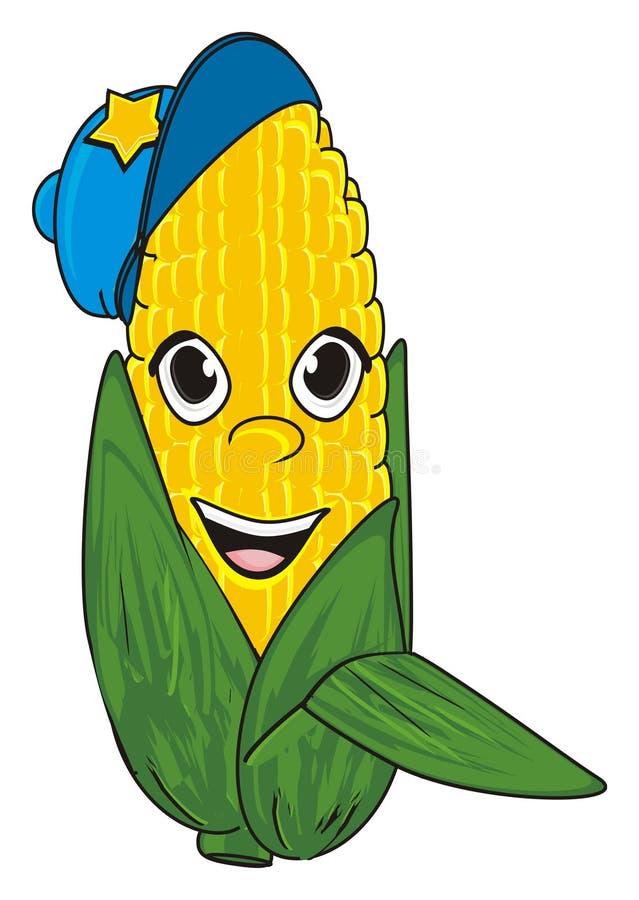 Download Mais in der Kappe stock abbildung. Illustration von field - 90225779