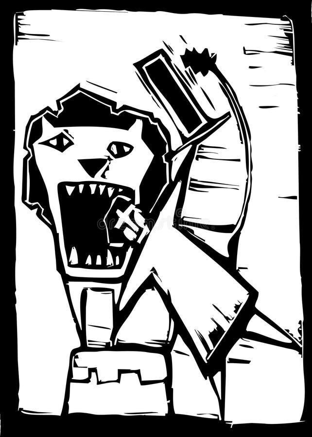 Mais doméstico de leão ilustração stock