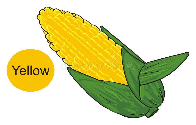 Download Mais ist gelb stock abbildung. Illustration von field - 90226325