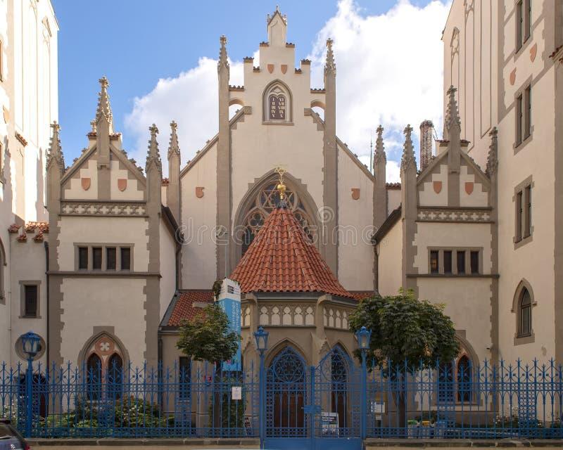 Maisel synagoga, dziejowy zabytek poprzednia Praga Żydowska ćwiartka obrazy royalty free