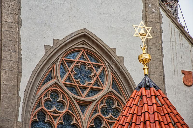 Maisel Synagogue - Prague CZ. Prague is a political, cultural and economic centre of central Europe royalty free stock photography