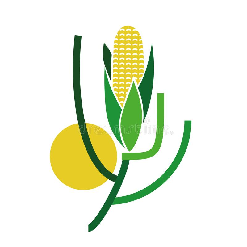 Maiskornlogo - Gemüsesammlung lizenzfreie abbildung