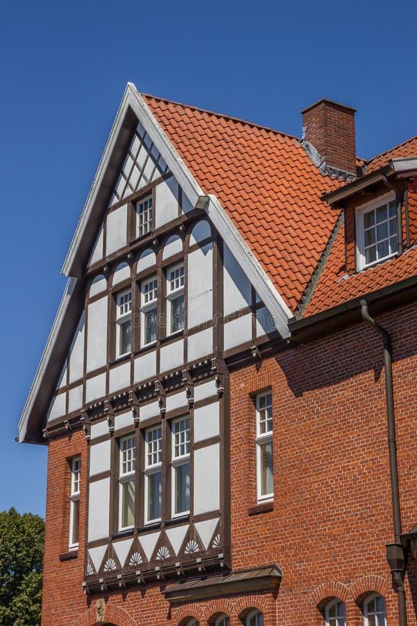 Maison à colombage au centre historique de mauvais Bentheim photo stock