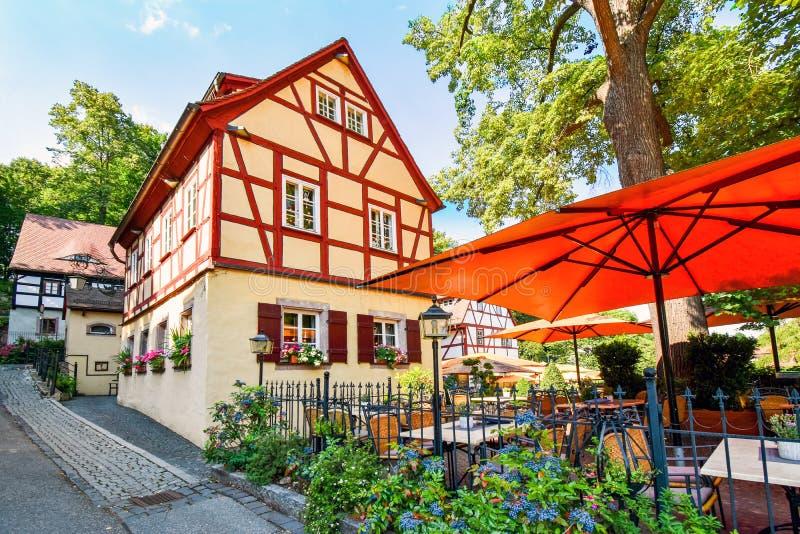 Maison à colombage historique à Chemnitz Saxe/Allemagne images stock