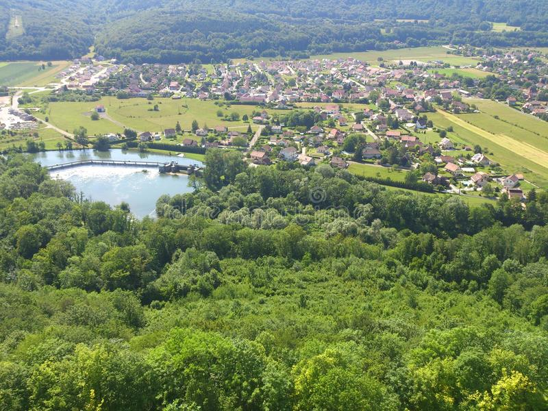 Maison природы arbres forêt Франции стоковое изображение