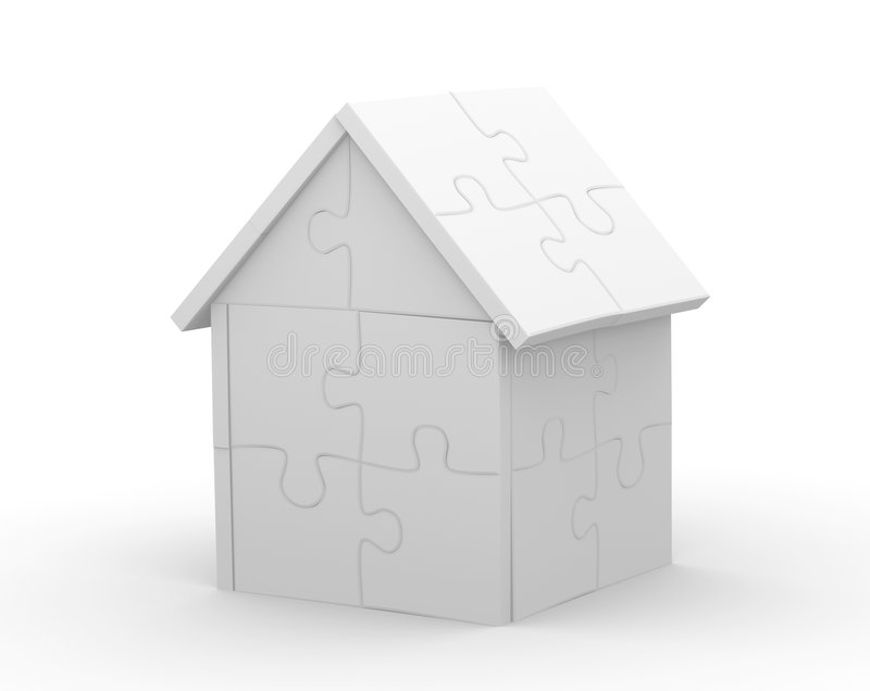 maison 3d illustration libre de droits
