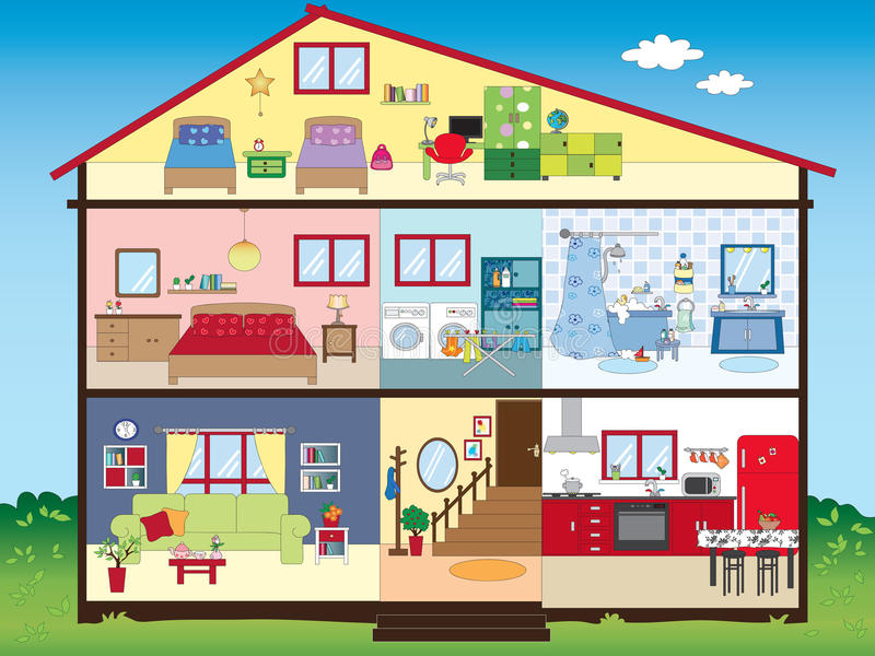 Maison illustration libre de droits
