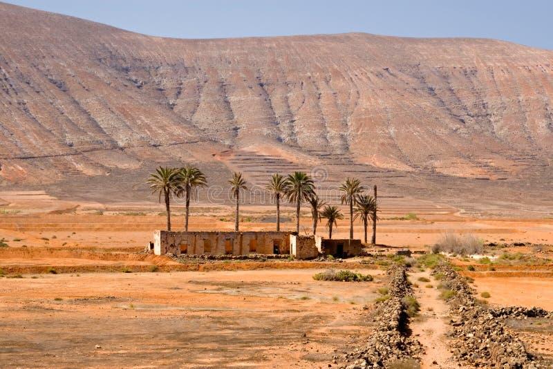 Maison abandonnée à Fuerteventura photo stock
