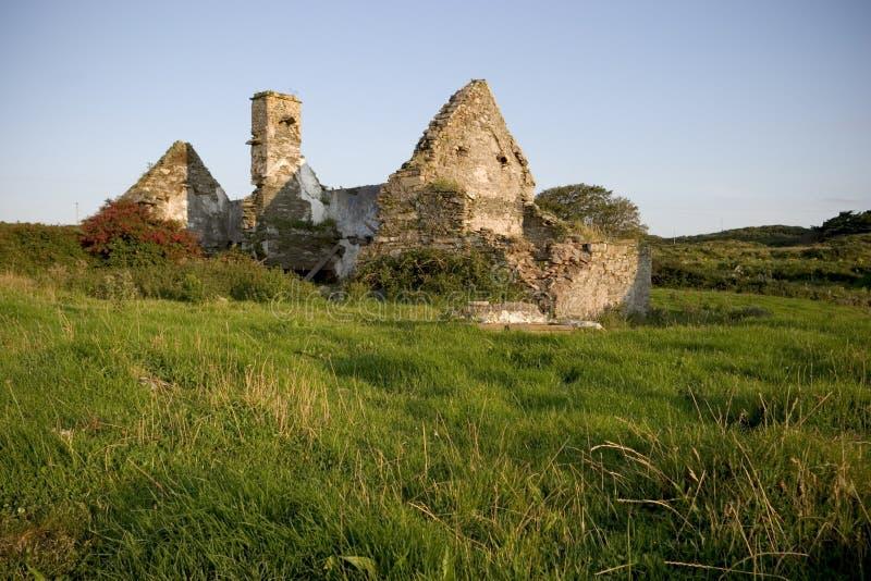 Maison abandonnée, Irlande images libres de droits