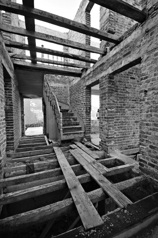maison abandonnée vieille image stock