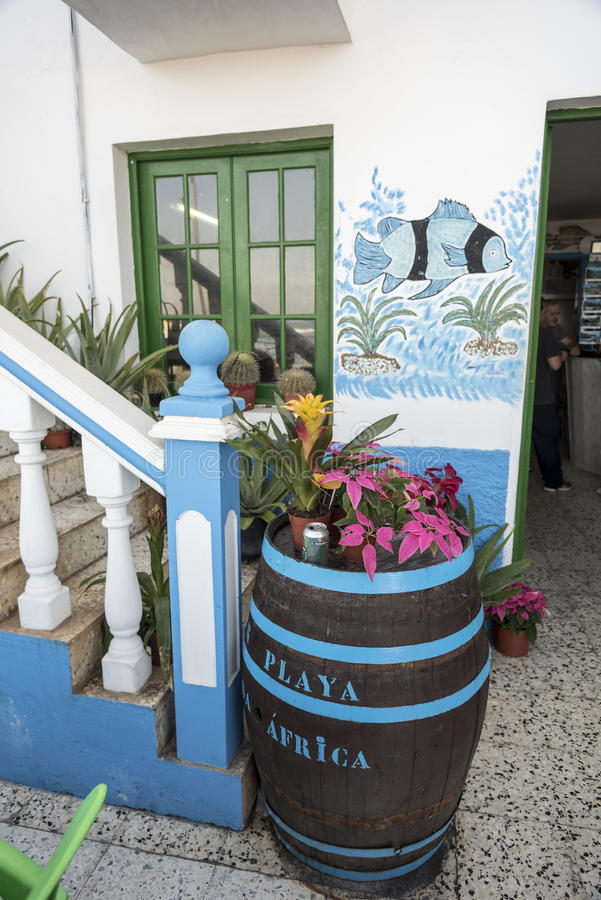 Maison Afrique de Restaurante Playa images libres de droits