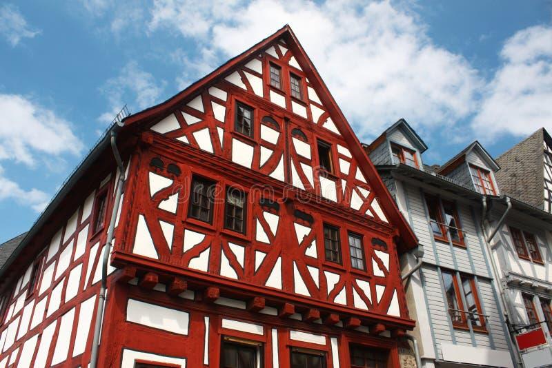 Maison allemande traditionnelle image stock