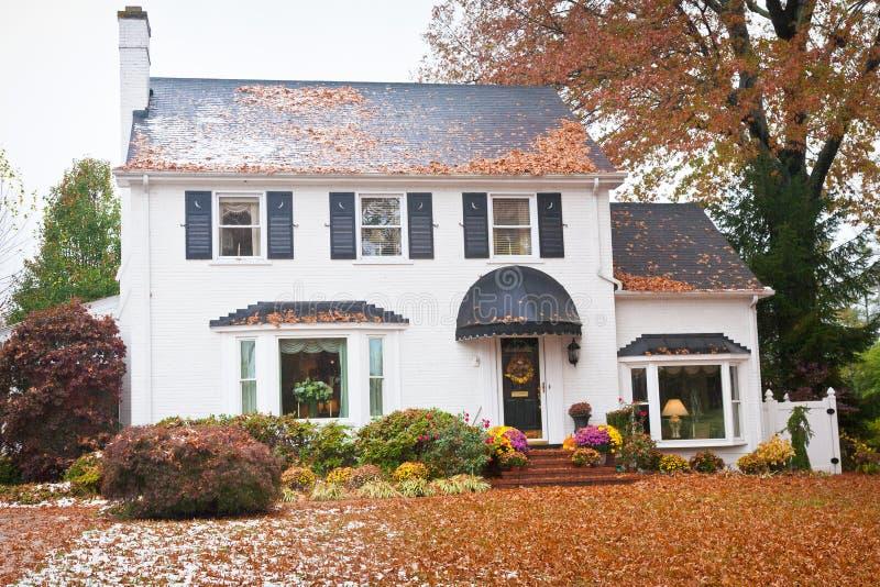 Maison américaine traditionnelle images stock