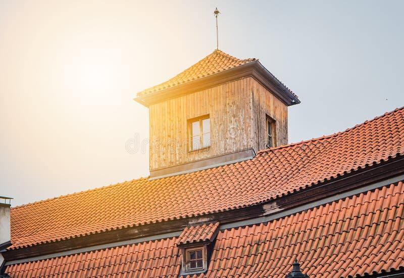 Maison antique à Prague image stock