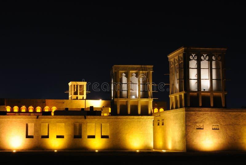 Maison arabe traditionnelle à Dubaï photographie stock