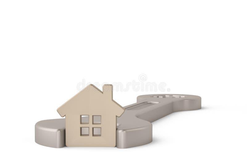 Download Maison Argentée Dans La Clé D'isolement Sur Un Fond Blanc Illustr 3d Illustration Stock - Illustration du closeup, maison: 87705473