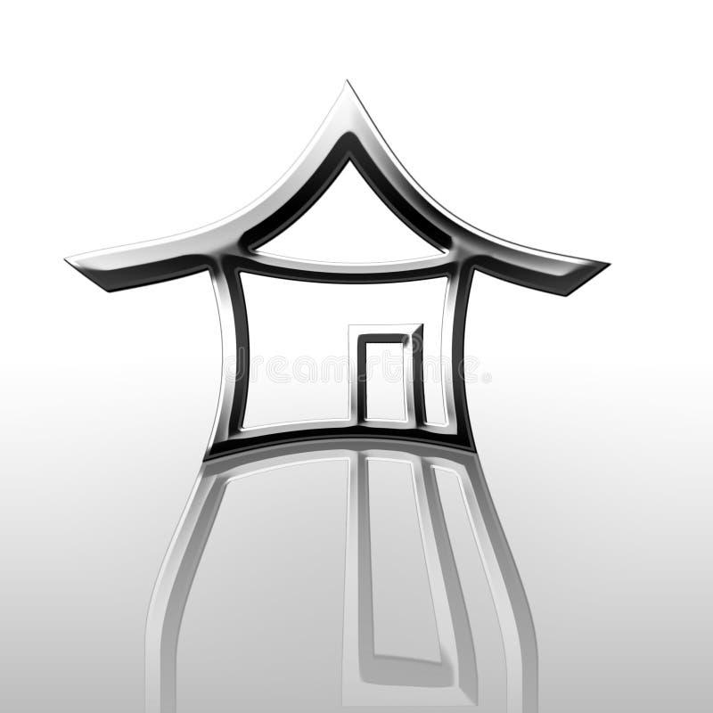 Maison argentée reflétée illustration de vecteur