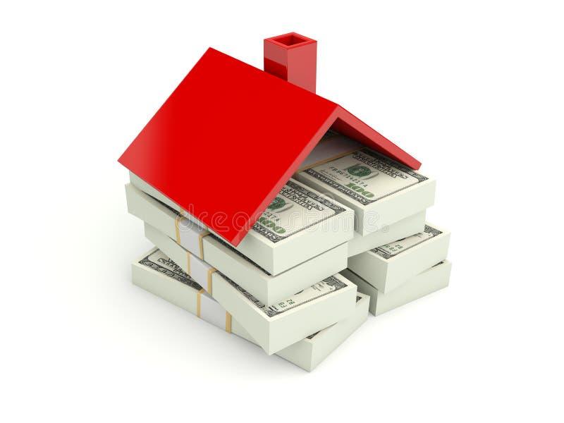 Maison avec de l'argent illustration de vecteur
