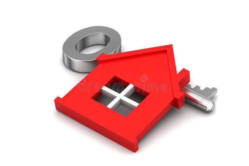 Maison avec la clé illustration stock
