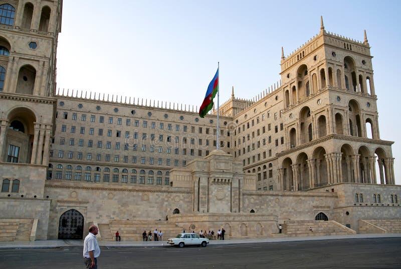 Maison Bakou central Azerbaïdjan de gouvernement photo stock