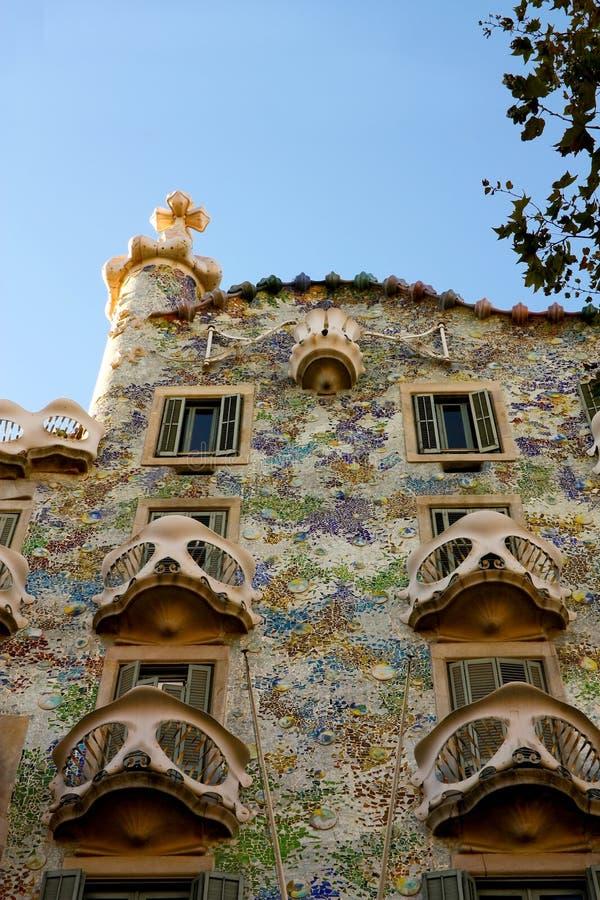 Maison Batlló, par Gaudí. Barcelone photos stock