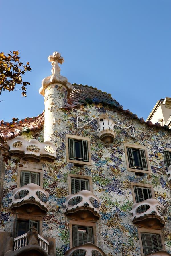 Maison Batlló, par Gaudí. Barcelone images stock