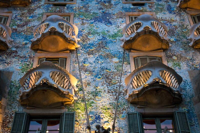 Maison Batllo, Barcelone, Catalogne, Espagne image stock