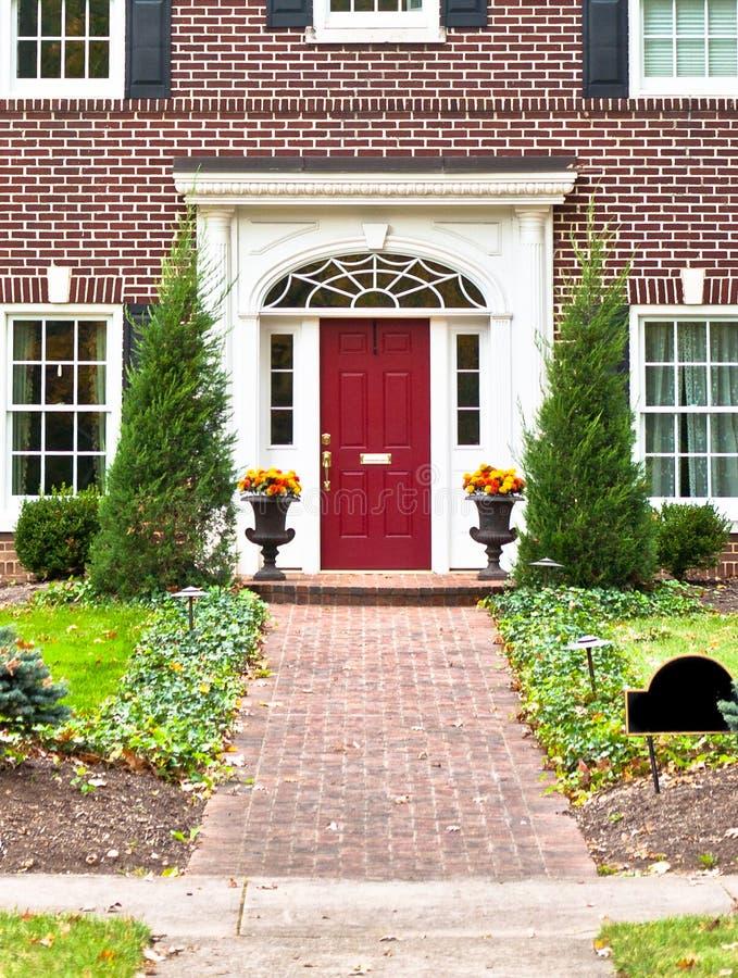 Maison bienvenue ! images libres de droits