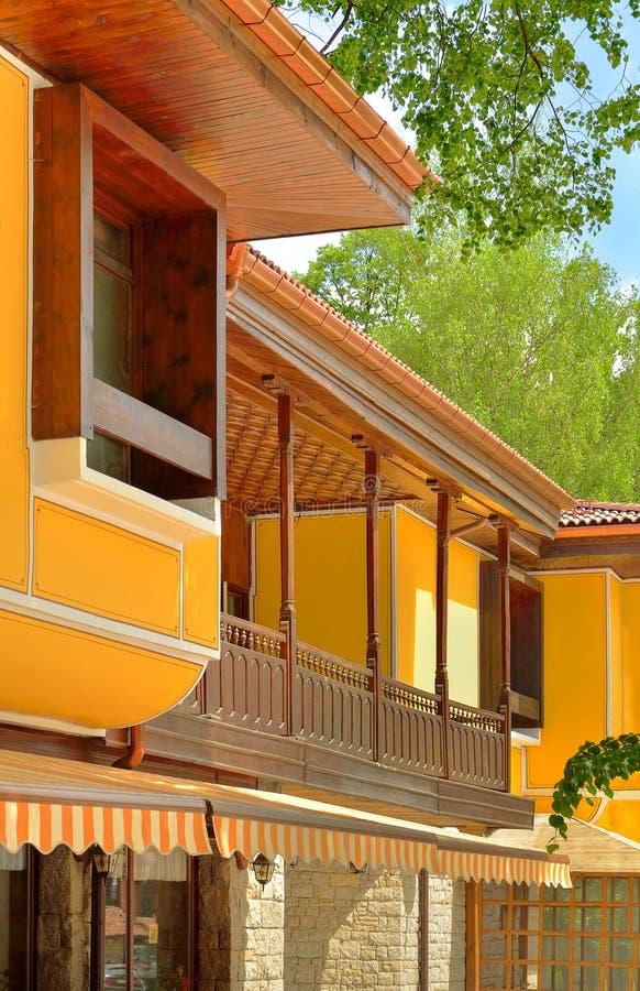 maison bulgare typique dans le style oriental de koprivshtitsa bul image stock image du. Black Bedroom Furniture Sets. Home Design Ideas