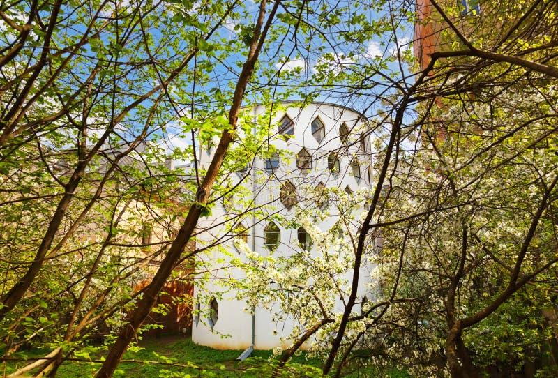 Maison célèbre d'architecte Melnikov sur la rue d'Arbat - Moscou Russ photos stock