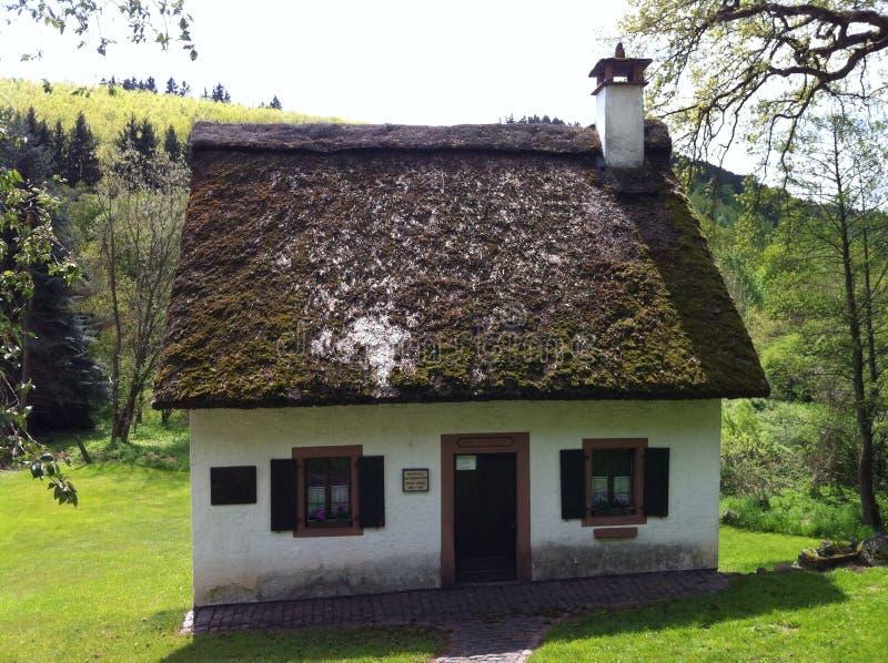 Maison célèbre de poètes dans Nederkail Allemagne images stock
