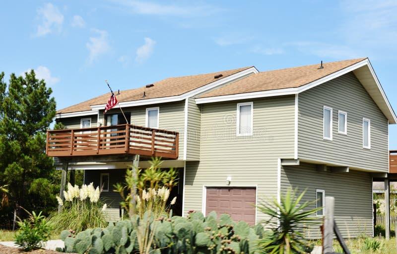 Maison côtière de rivage oriental de Virginia Beach photographie stock