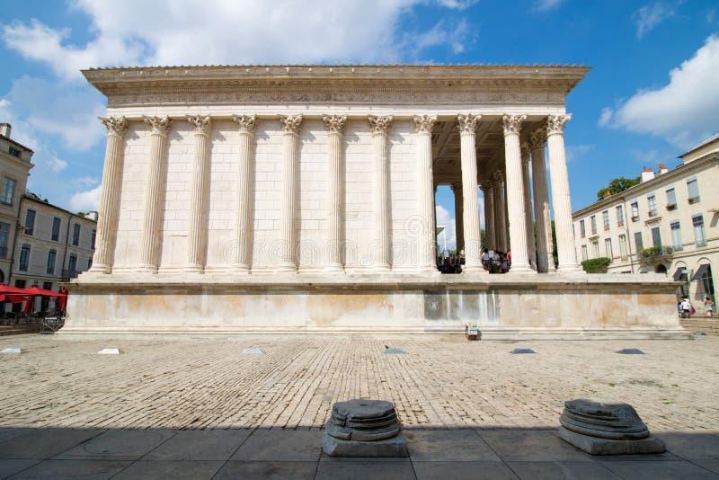 Maison Carrée, Nîmes,法国 免版税库存图片