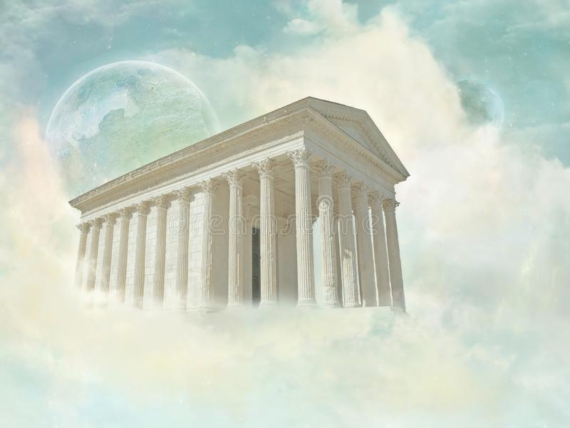 Maison Carrée - just in Heaven. The Maison Carrée is an ancient building in Nîmes, southern France; it is one of the best preserved Roman temple stock photography