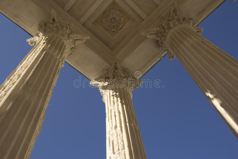 Maison carre nimes royalty free stock images