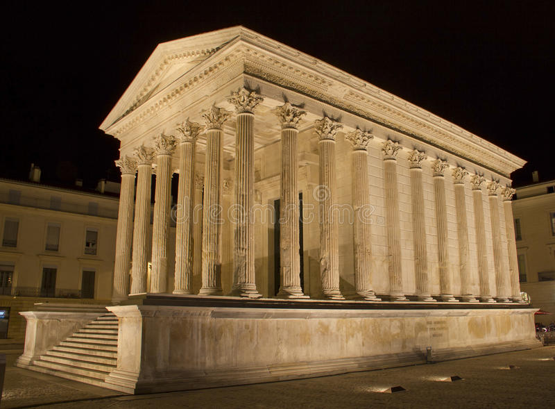 Maison Carree in Nimes. Southern of France royalty free stock images