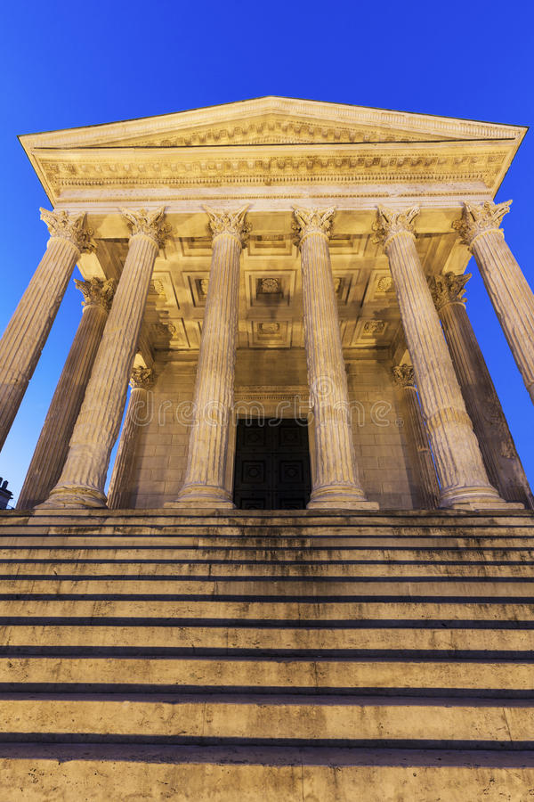 Maison Carree in Nimes. Nimes, Occitanie, France stock photography