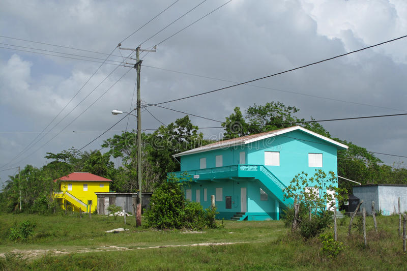 Maison carribean typique traditionnelle à Belize photo libre de droits