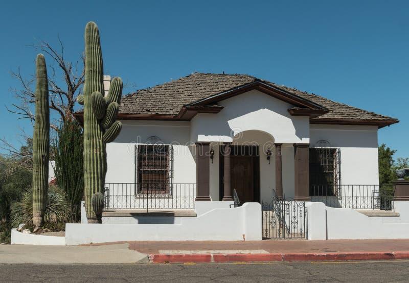 Maison classique de Tucson images libres de droits