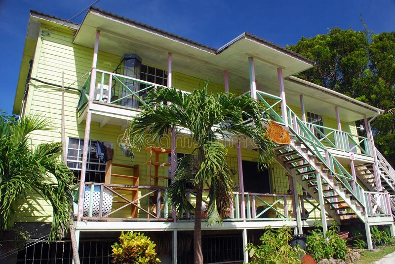 Maison coloniale de style sur les Barbade photo libre de droits