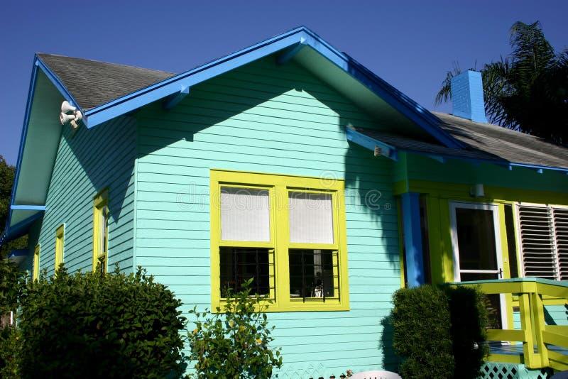 Maison colorée photo libre de droits