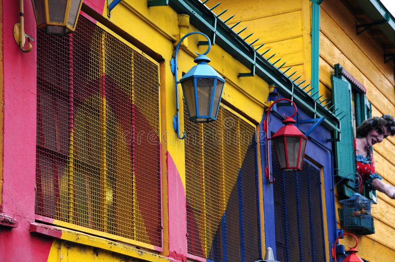 Maison colorée de caminito photo libre de droits