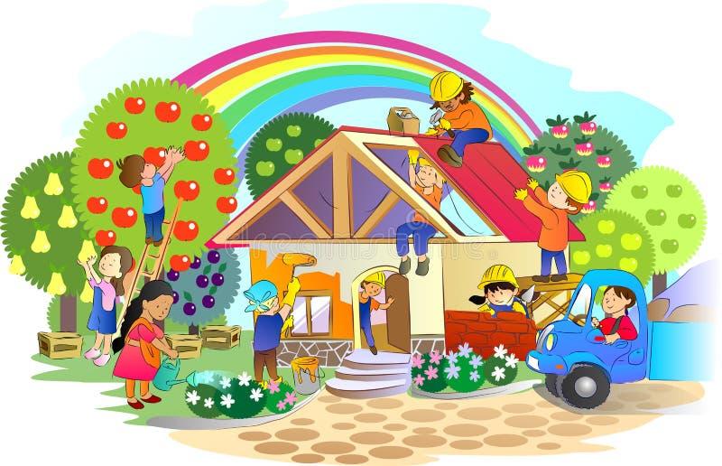 Maison commune illustration de vecteur